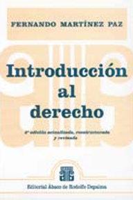 MARTÍNEZ PAZ, FERNANDO: Introducción al derecho
