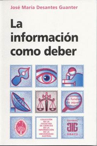 DESANTES GUANTER, JOSÉ M.: La información como deber