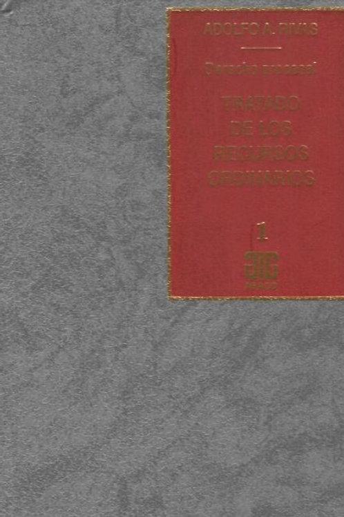 RIVAS, ADOLFO A.: Tratado de los recursos ordinarios. Tomo 1 (E.)