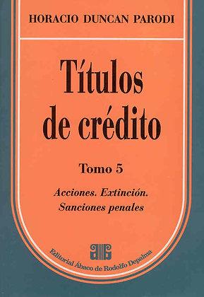 PARODI, HORACIO D.: Títulos de crédito. Tomo 5