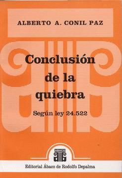 CONIL PAZ, ALBERTO A.: Conclusión de la quiebra