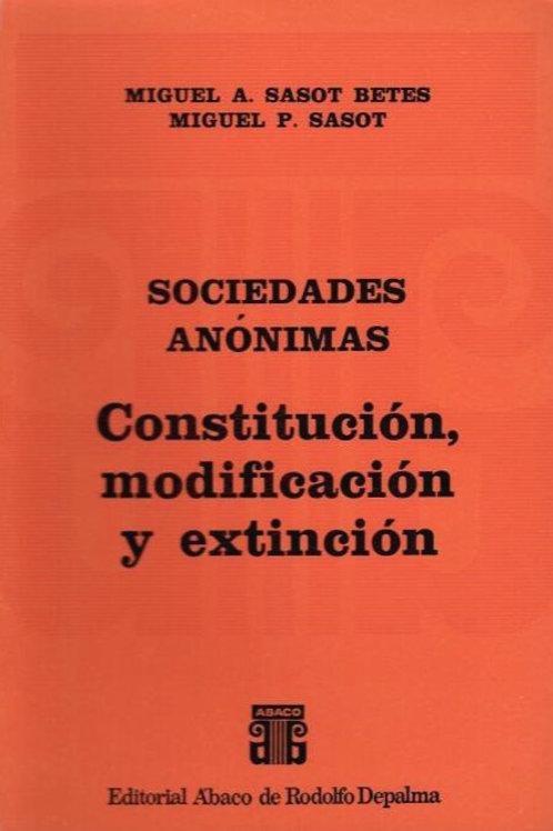 SASOT BETES, MIGUEL Á., y SASOT, M.: Constitución, modificación y extinción