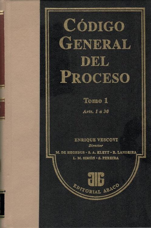 ENRIQUE VESCOVI (Dir.): CÓDIGO GENERAL DEL PROCESO. 5 Tomos