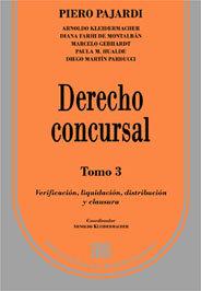 PAJARDI, PIERO: Derecho concursal. Tomo 3