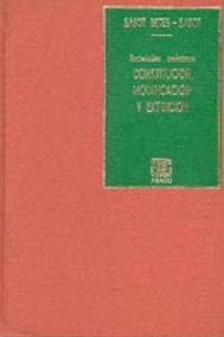 SASOT BETES, MIGUEL Á., y SASOT, M.: Constitución, modificación y extinción (E)