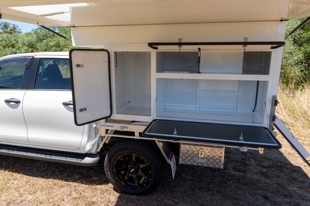 Wedgetail 18 Camper for dual cab utes.