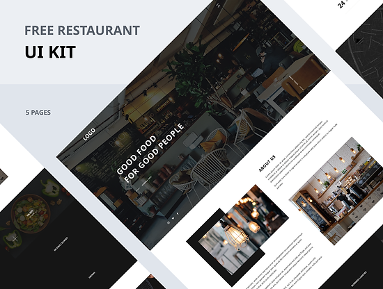 UI kit for Restaurants & Cafe