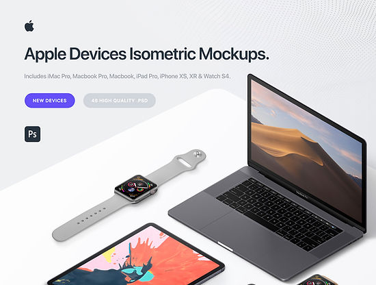 Apple 46 Devices Mockups