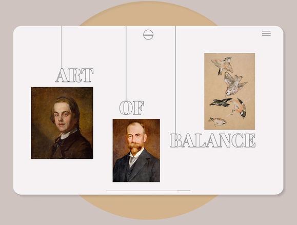 Art Gallery Website UI design
