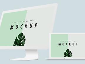 Minimal Macbook & iMac Mockup