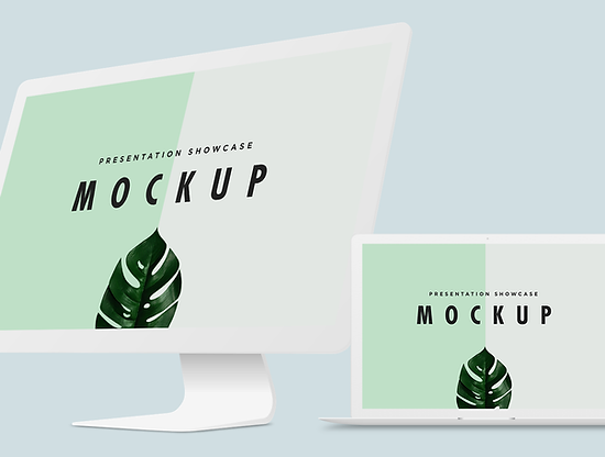 Minimal Macbook & iMac Mockup