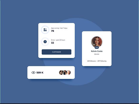 Stats Cards UI Design