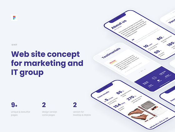 UI kit for Marketing / IT Agency