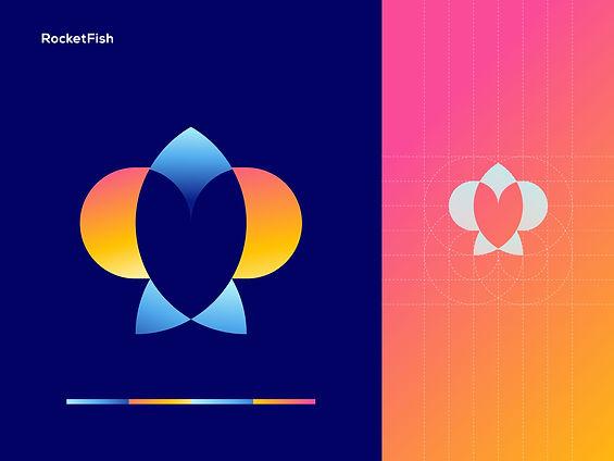 RocketFish Logo Design