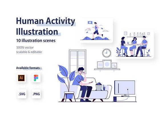 Human Activity Illustration Kit