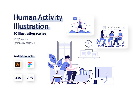 Human Activity Illustration Kit