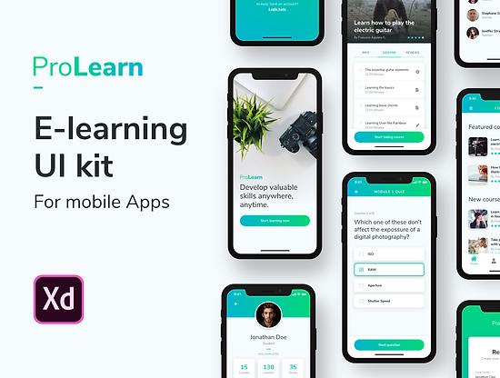 ProLearn - E-learning Mobile UI