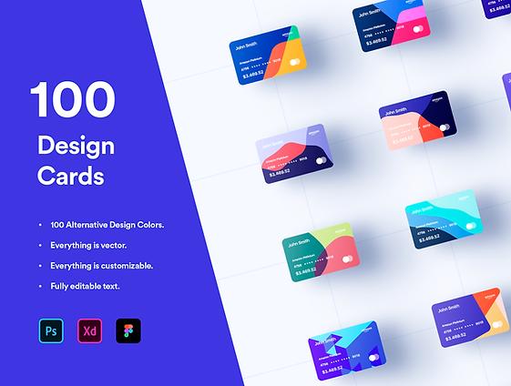 100 Financial Design Cards