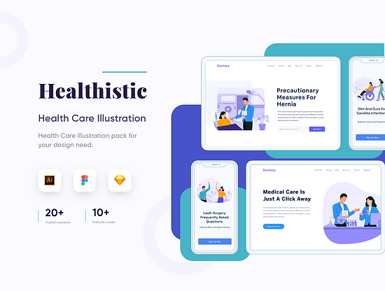 Healthisthic Healthcare Illustr.