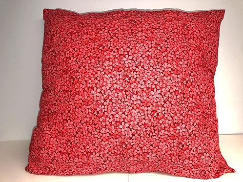 "Red Pillow, 18"" x 18"""