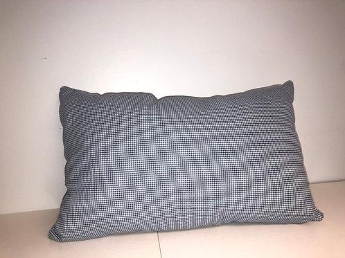 """Blue Checkered Pillow, 14"""" x 8"""""""