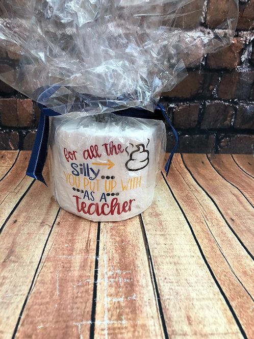 Teacher toilet paper gag gift