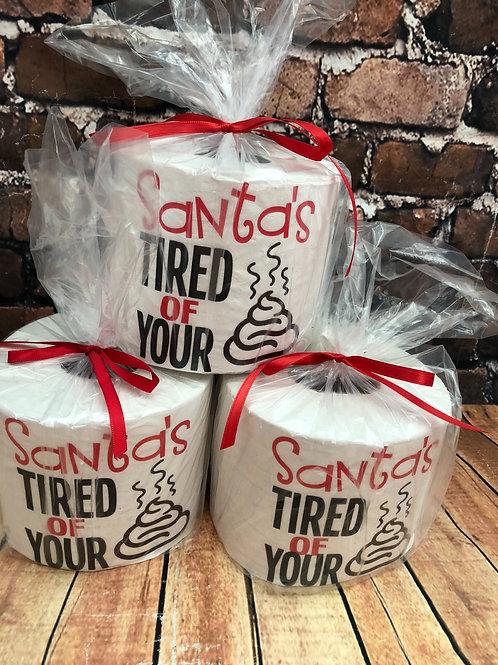 Christmas toilet paper gag gift