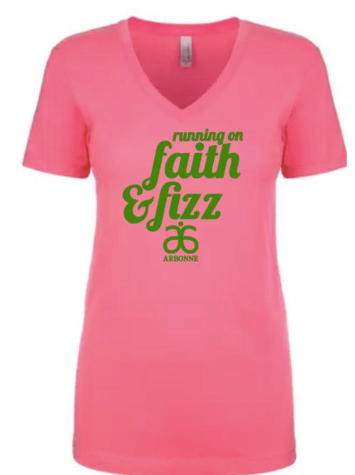 Running on Faith and Fizz Women's T-shirt