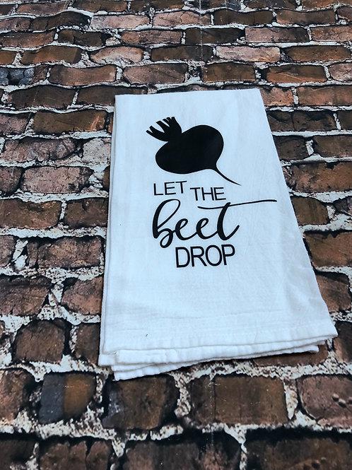 Let the beet drop tea towel