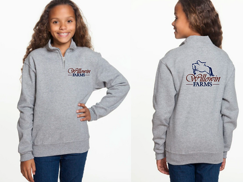 Youth Willowin Farms Pullover Quarter Zip