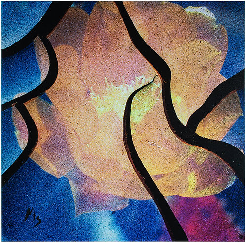 Prickly Pear Blossom Abstract 1