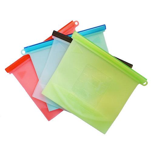Set de 4 bolsas de silicona