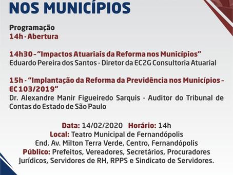 Sindicato participa de Seminário sobre Reforma da Previdencia dos Servidores