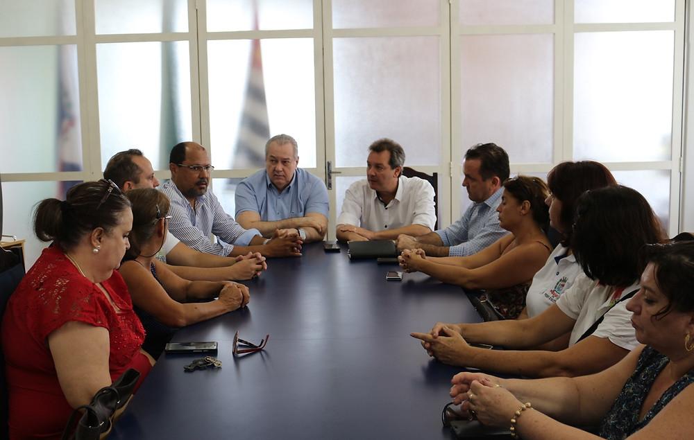 Diretoria do Sindicato negociando reajuste salarial em janeiro de 2017, primeiro ano do mandato atual