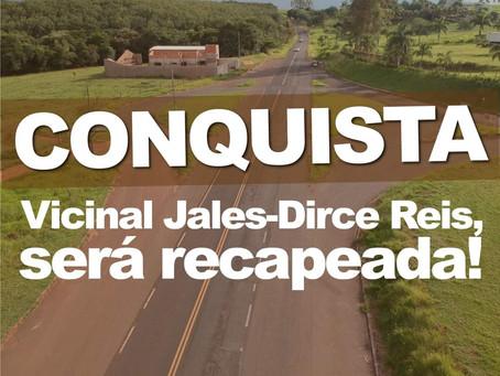 Prefeito Luis Henrique assina recapeamento da vicinal Jales a Dirce Reis