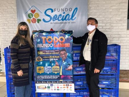 Fundo Social recebe a doação de 500 cestas básicas da live promovida pelo Rotary Club de Jales