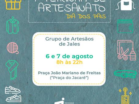 """Feirinha de Artesanato para o Dia dos Pais vai ser realizada nos dias 6 e 7 na """"Praça do Jacaré"""""""