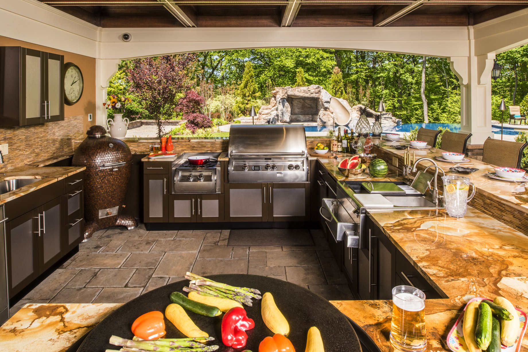 Custom outdoor kitchen, custom cabinets, Dove Studio, Atlanta, GA, custom outdoor cabinets, outoor l