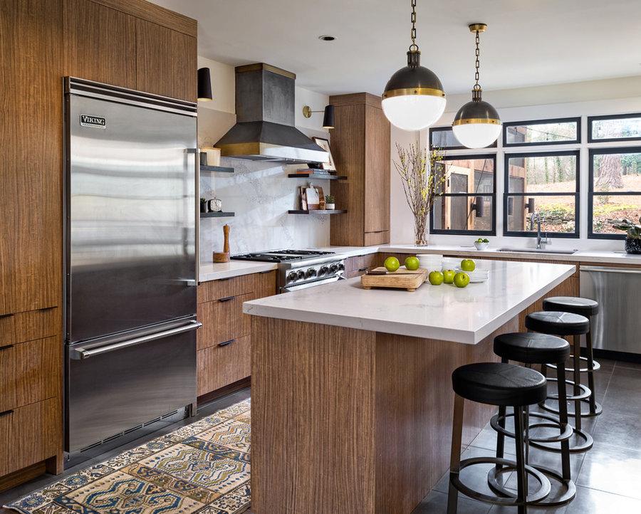 Custom kitchen cabinets, modern industrial kitchen,