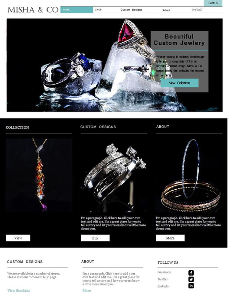 """Landing"" Misha&Co jeweler 2014 design"