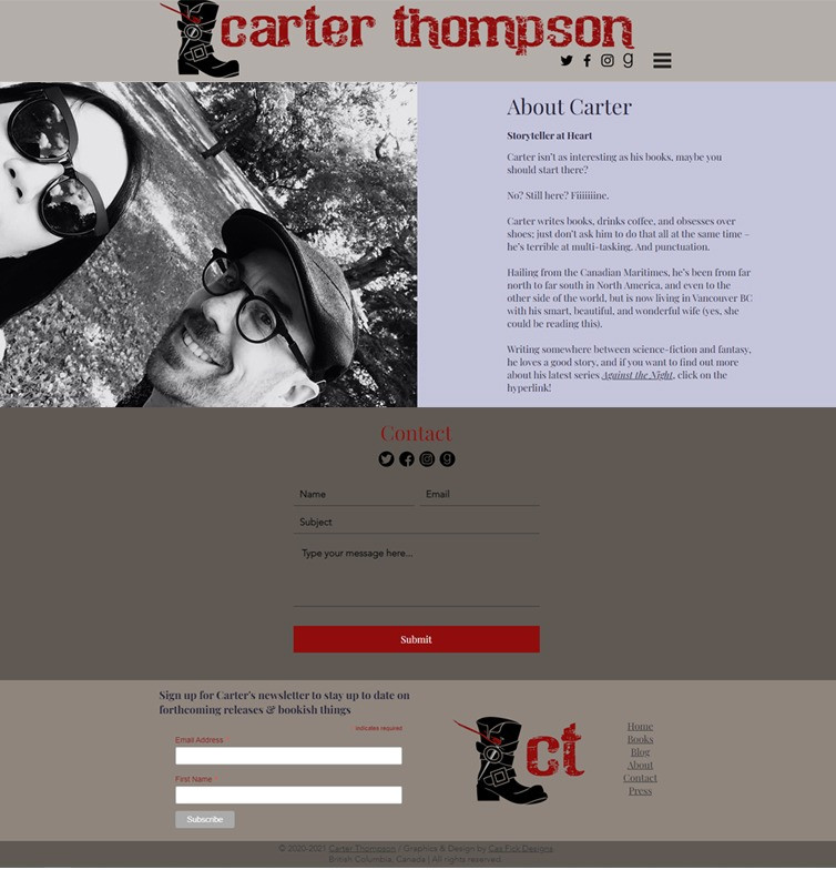 Carter J Thompson 2021 about