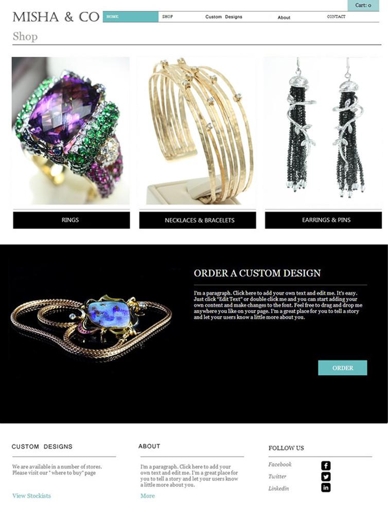 """""""Shop"""" Misha&Co jeweler 2014 design"""