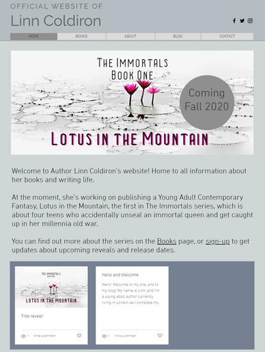 Contemporary Fantasy Author Linn Coldiron 2020 design