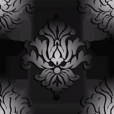 paisley damask pattern small silver