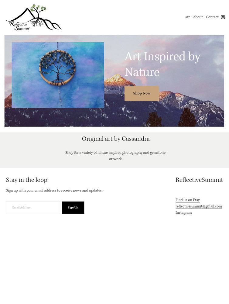 """Home page"" ReflectiveSummit 2020 design"