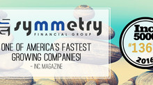 Symmetry Financial Group named by Inc. 5000 as #1360 fastest growing company in America!