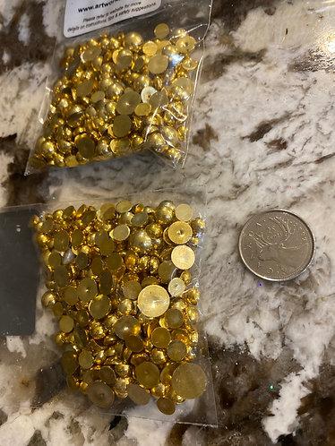 Acrylic Gems, rich gold, small bag