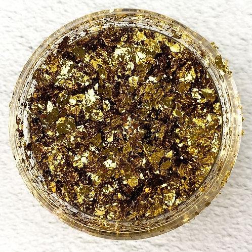 Rich Gold Metallic Foil Flakes, Colour Passion