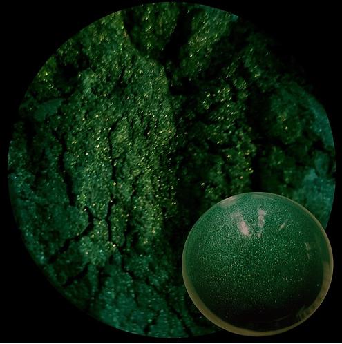 Forrest Green Pearlescent Pigment Powder O 50ml Le Rez