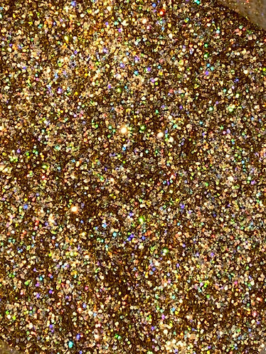 Gold Holographic Glitter Iridescent Ice Flakes, 1oz
